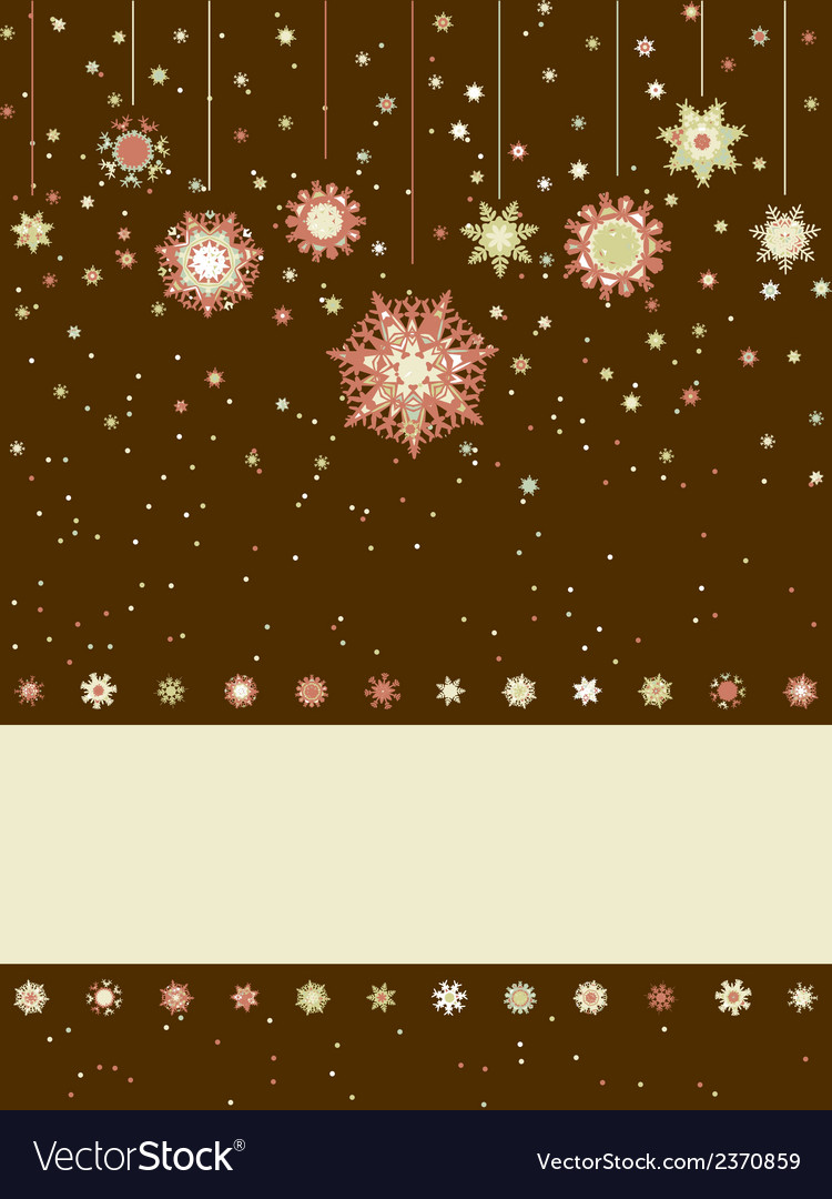 Christmas greeting card with snowflakes eps 8 vector | Price: 1 Credit (USD $1)
