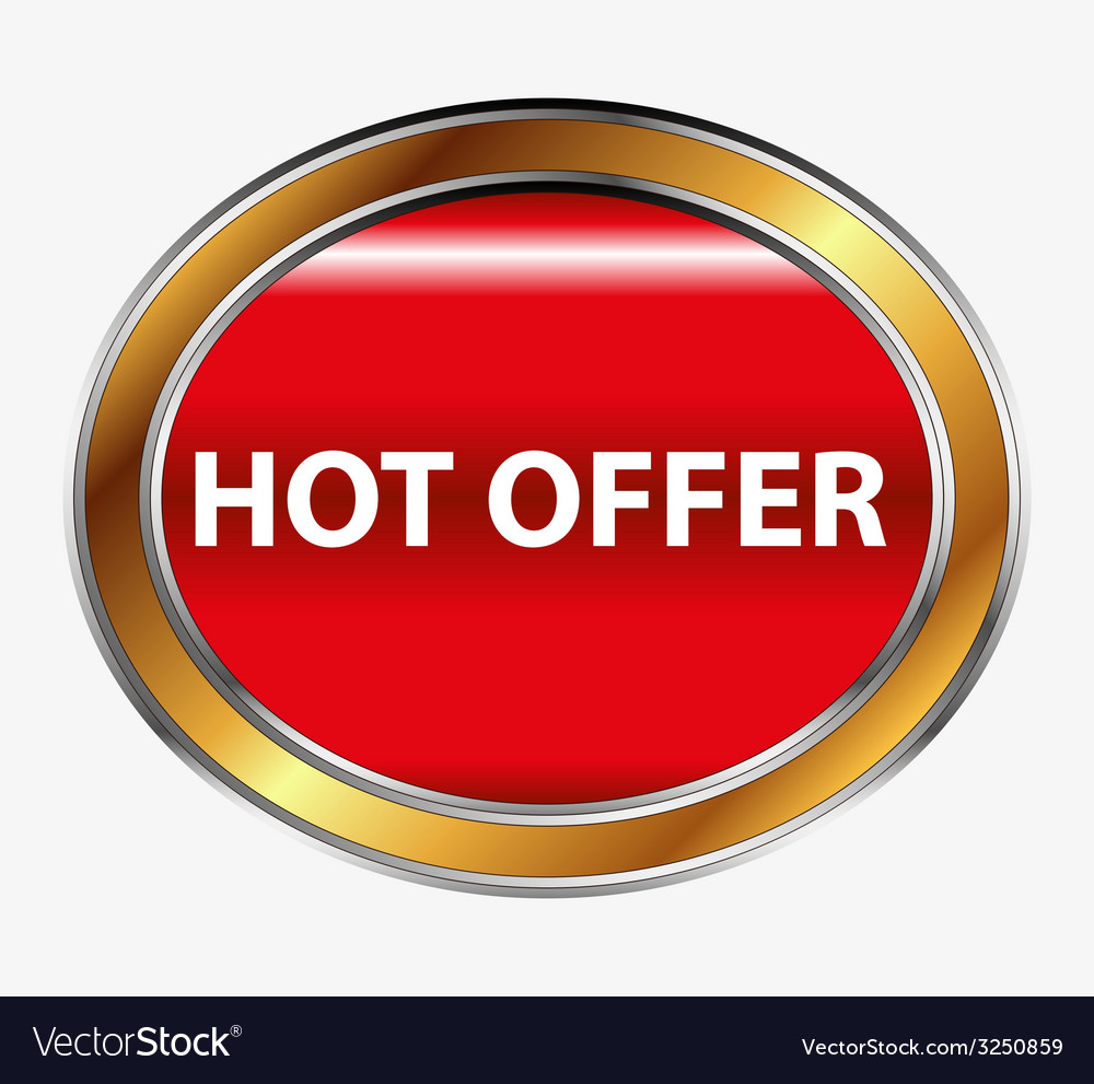 Hot offer button vector | Price: 1 Credit (USD $1)