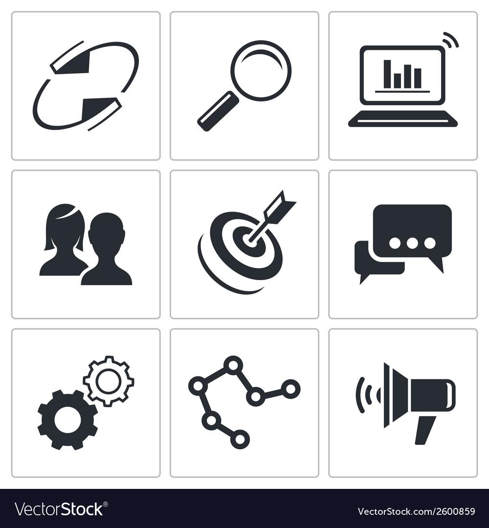 Marketing icon set vector | Price: 1 Credit (USD $1)