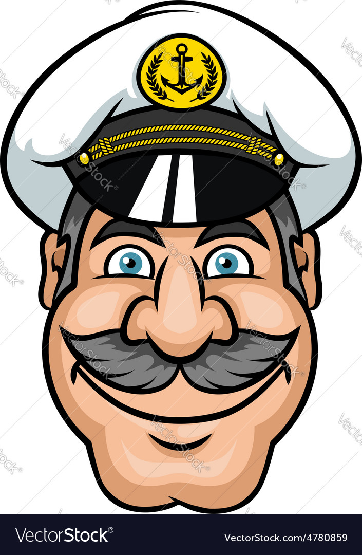 Moustached sailor or ship captain vector | Price: 1 Credit (USD $1)