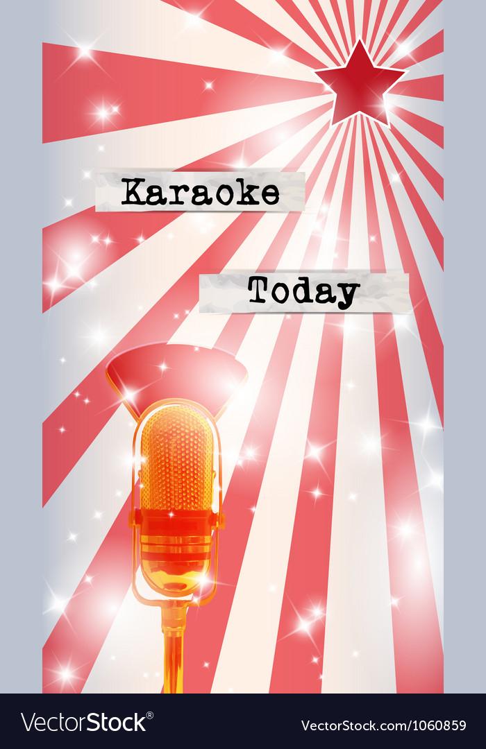 Retro party flyer vector | Price: 1 Credit (USD $1)