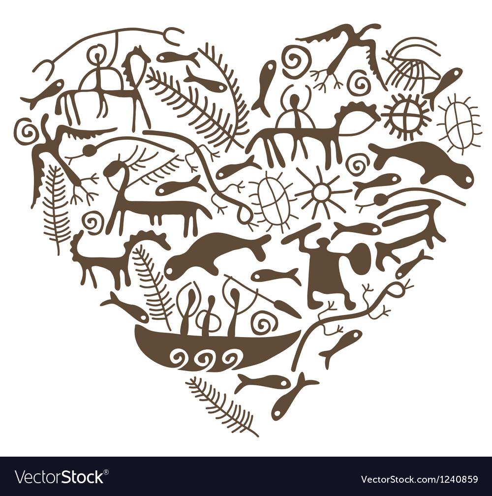 Shamanic heart vector | Price: 1 Credit (USD $1)