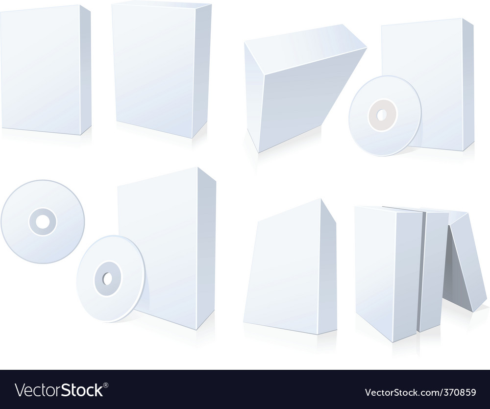 Software boxes with cd vector | Price: 1 Credit (USD $1)
