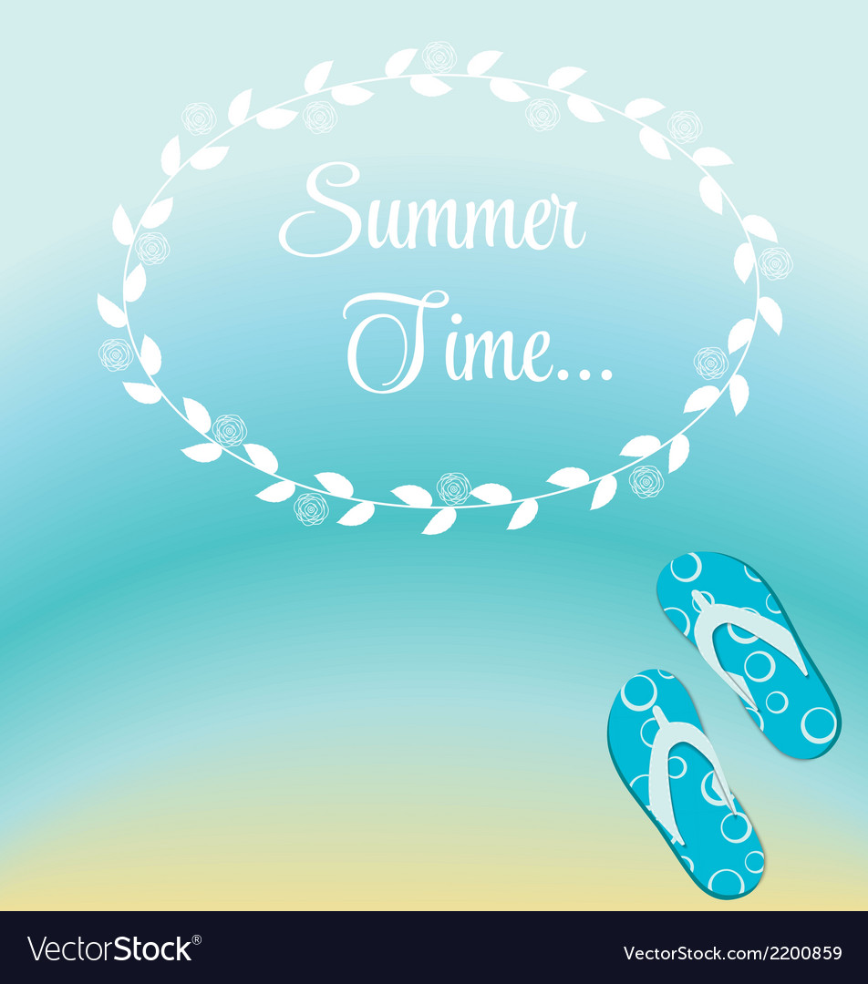 Summer holidays poster vector | Price: 1 Credit (USD $1)