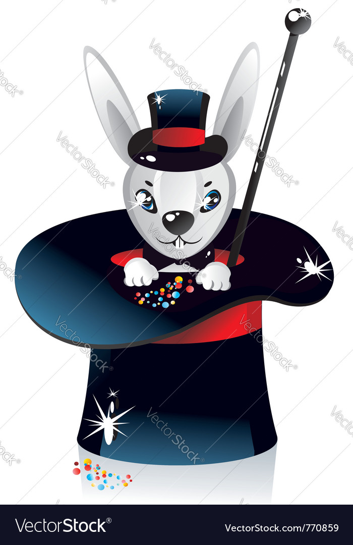 White rabbit vector | Price: 1 Credit (USD $1)