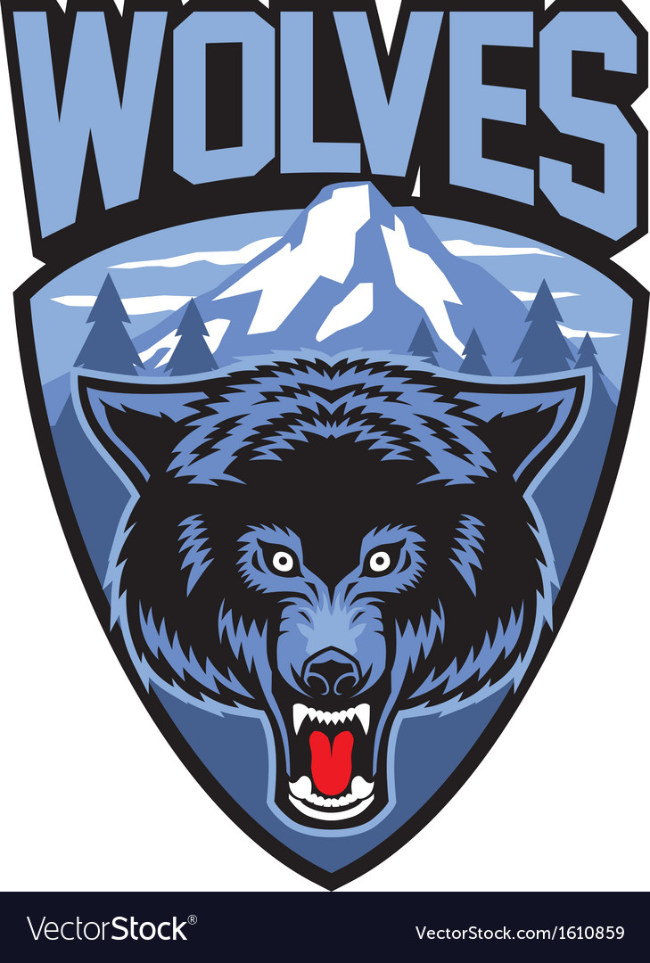 Wolves mascot vector | Price: 1 Credit (USD $1)