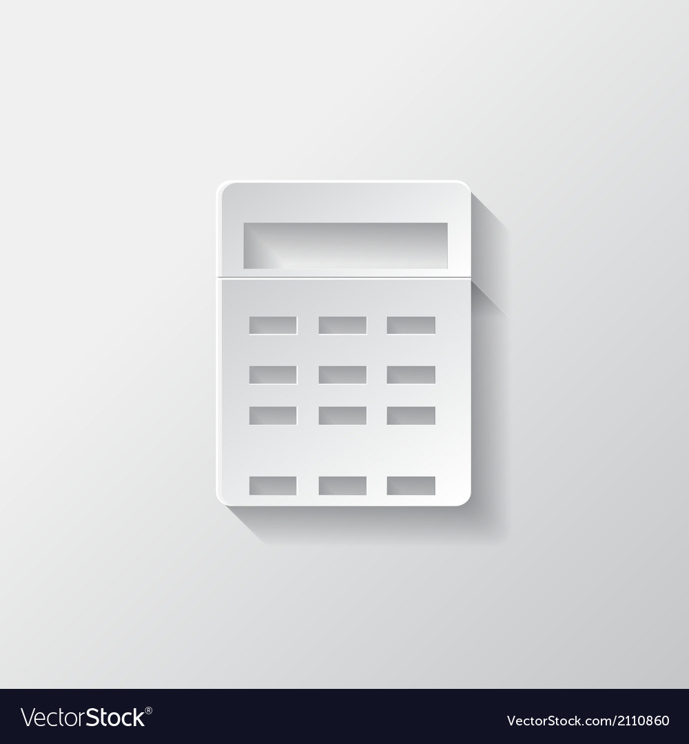 Calculator web icon vector | Price: 1 Credit (USD $1)