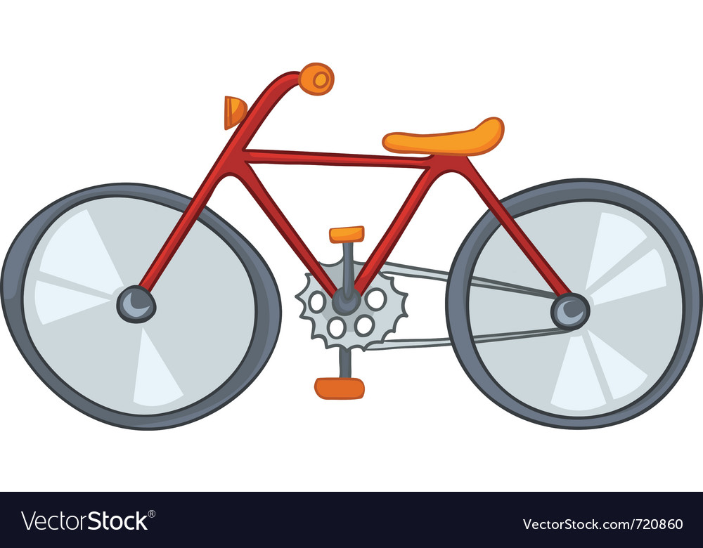 Cartoon bicycle vector | Price: 1 Credit (USD $1)