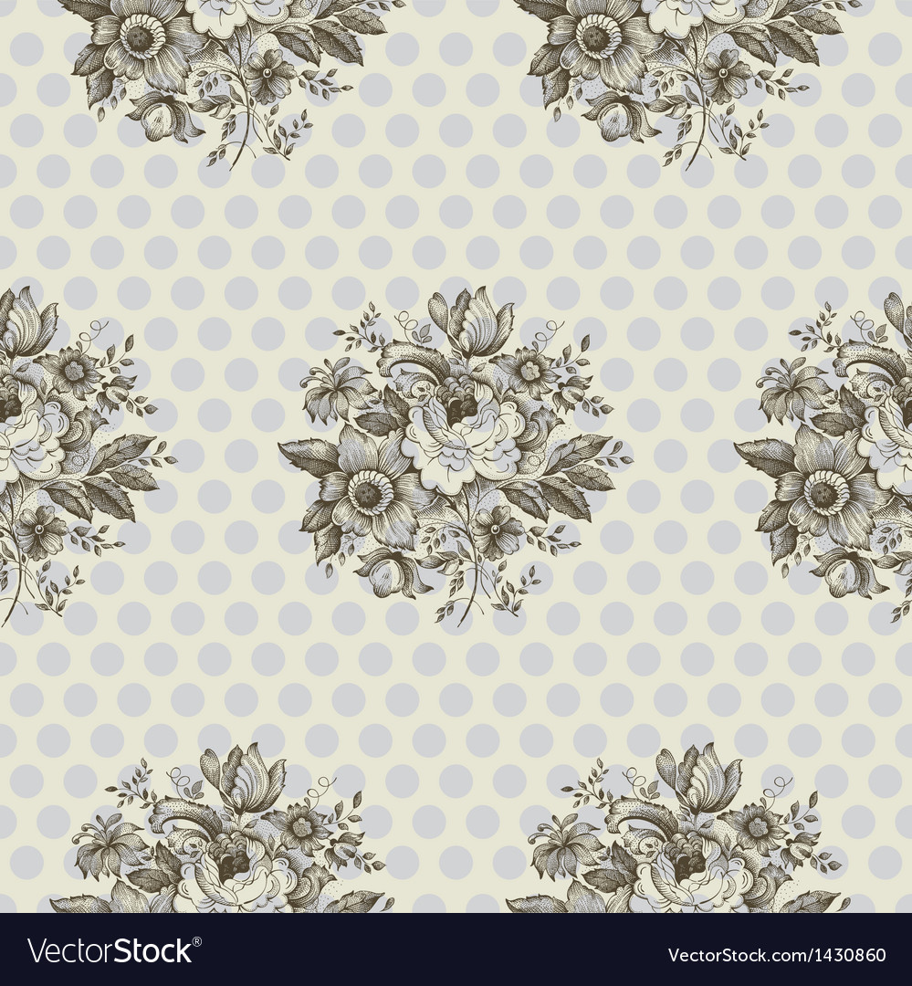 Classic floral seamless pattern vector | Price: 1 Credit (USD $1)