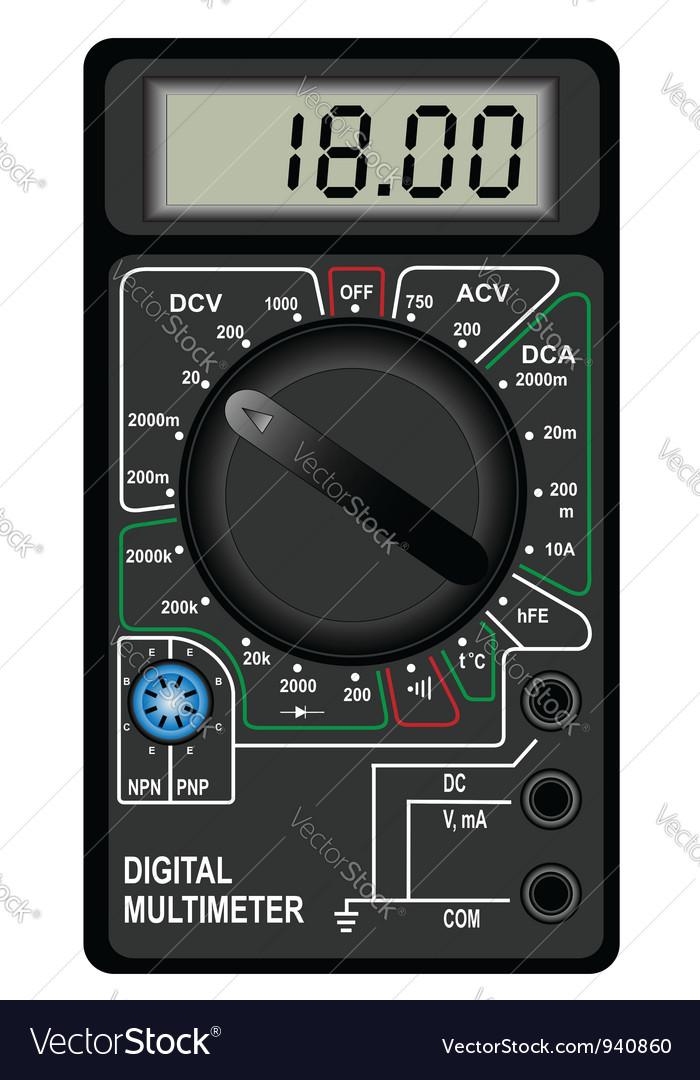 Digital multimeter vector | Price: 3 Credit (USD $3)