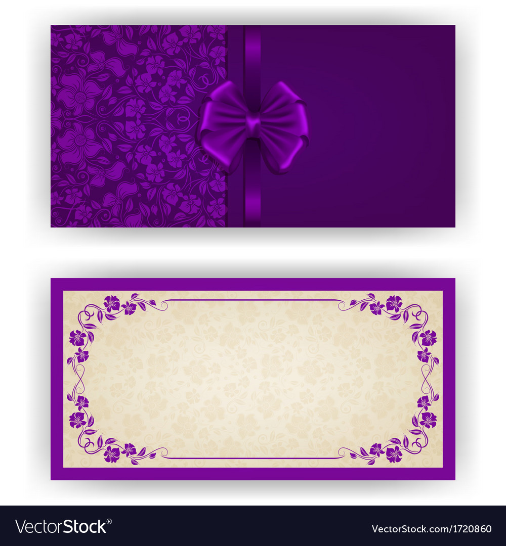 Elegant template for luxury invitation card vector | Price: 1 Credit (USD $1)