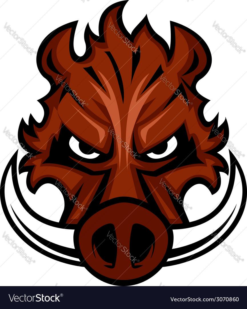 Fierce angry wild boar head vector | Price: 1 Credit (USD $1)