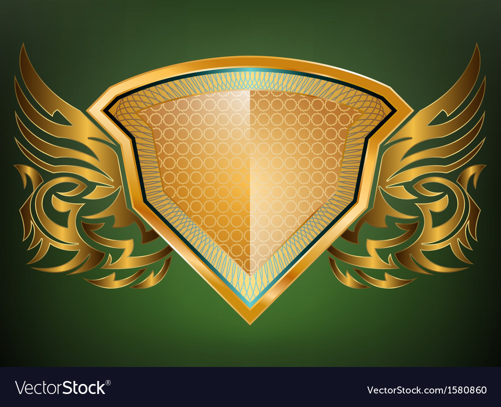 Gold shield pattern vector | Price: 1 Credit (USD $1)