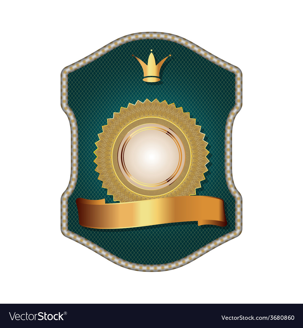 Golden vintage template-emblem and heraldry vector   Price: 1 Credit (USD $1)