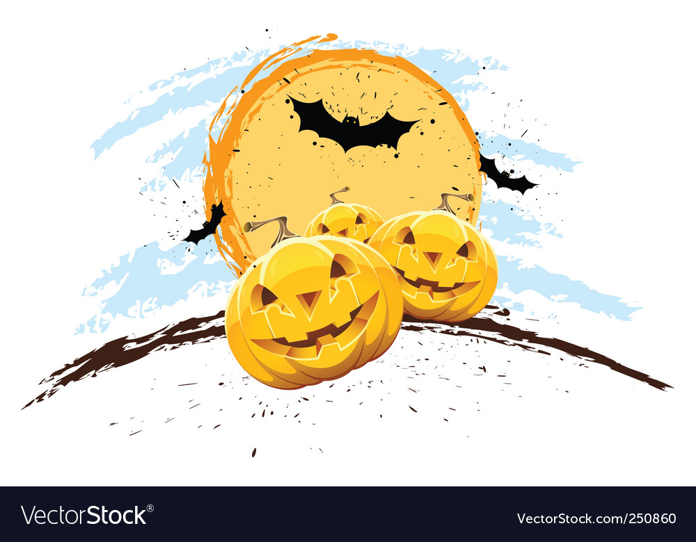Grunge halloween background vector | Price: 1 Credit (USD $1)