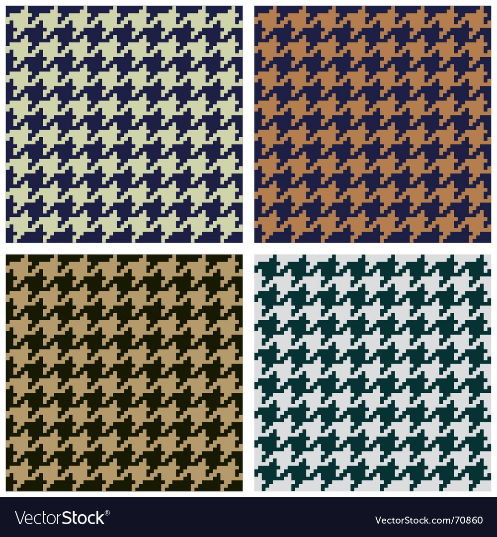 Hounds tooth seamless fabric pattern vector | Price: 1 Credit (USD $1)