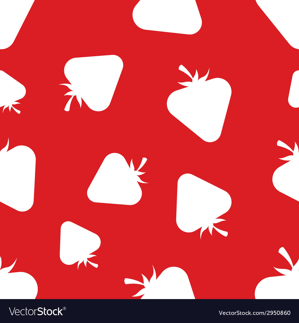 Pattern silhouette strawberries vector | Price: 1 Credit (USD $1)