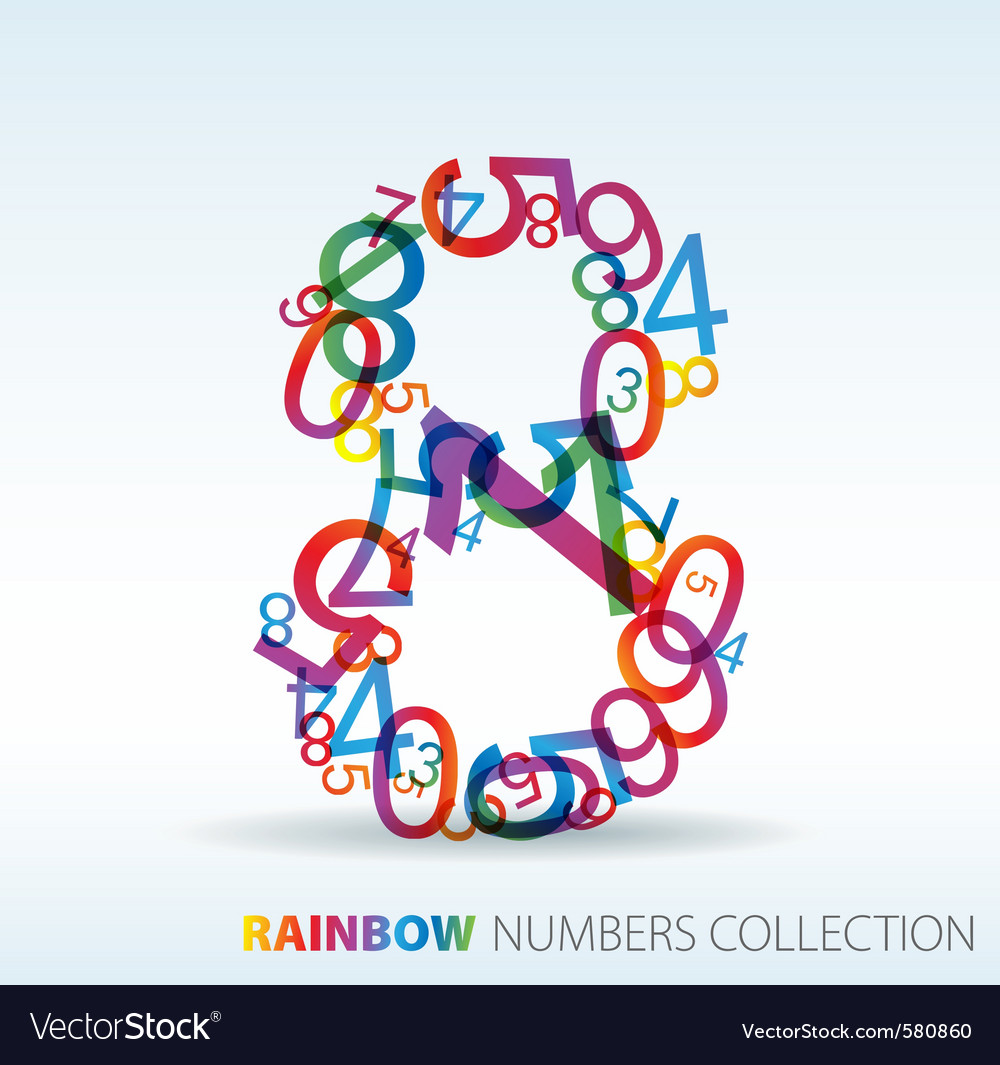 Rainbow number eight vector | Price: 1 Credit (USD $1)