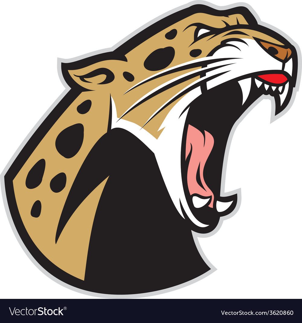 Roaring leopard vector | Price: 3 Credit (USD $3)
