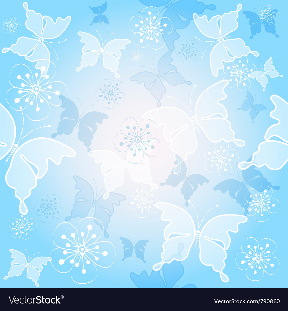 Spring gentle blue pattern vector | Price: 1 Credit (USD $1)
