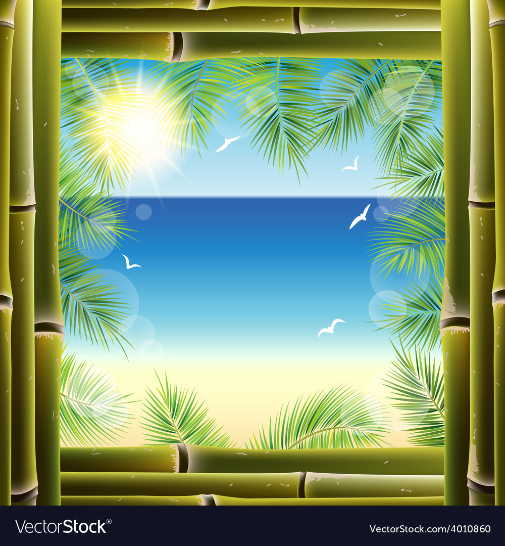 View of the seashore from the resort hotel window vector | Price: 1 Credit (USD $1)