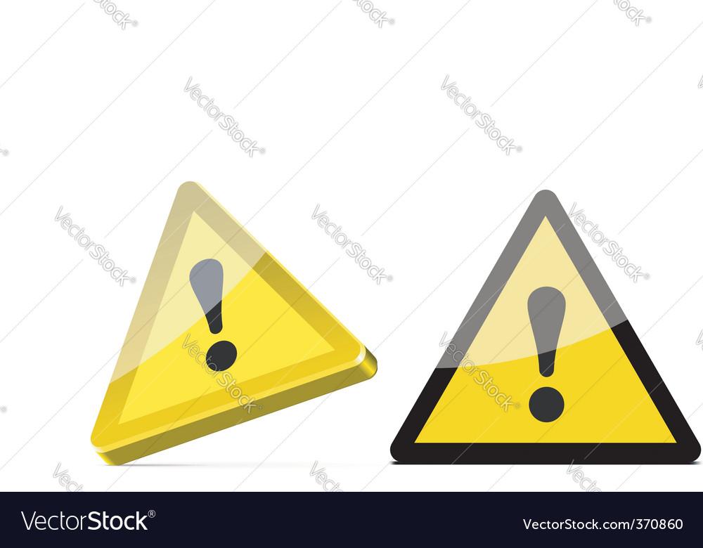 Warning sign vector | Price: 1 Credit (USD $1)