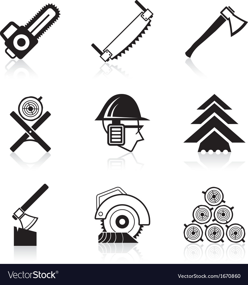 Woodworking icon set vector | Price: 1 Credit (USD $1)