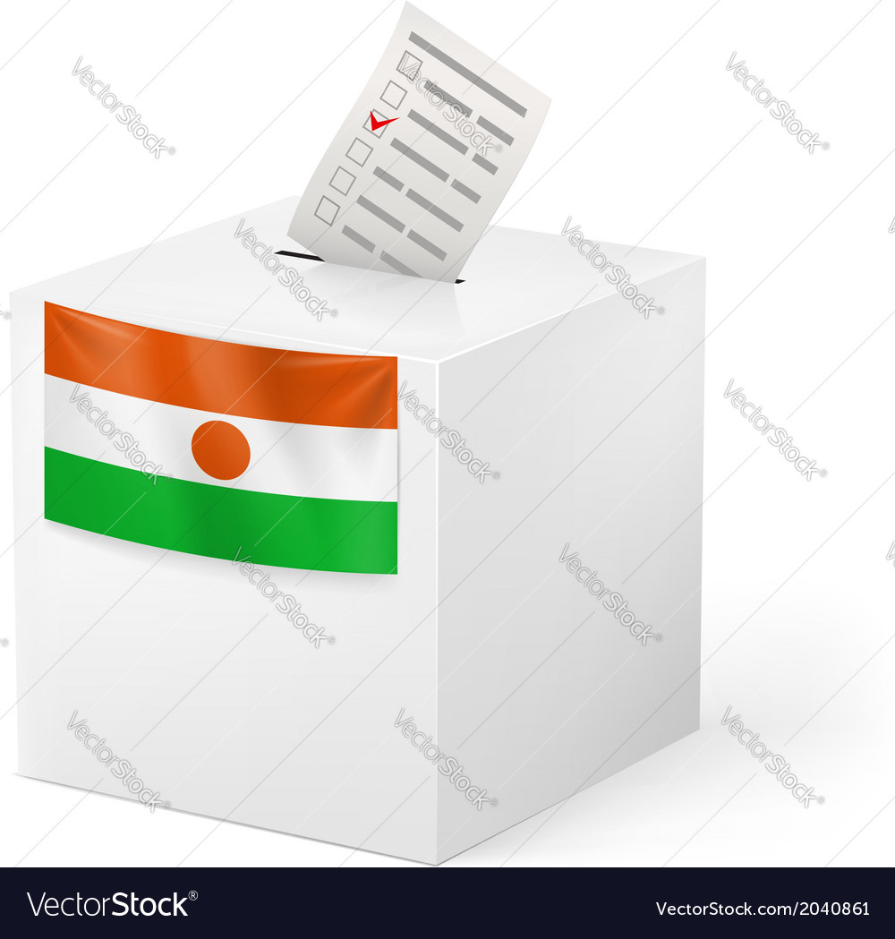 Ballot box with voting paper niger vector   Price: 1 Credit (USD $1)