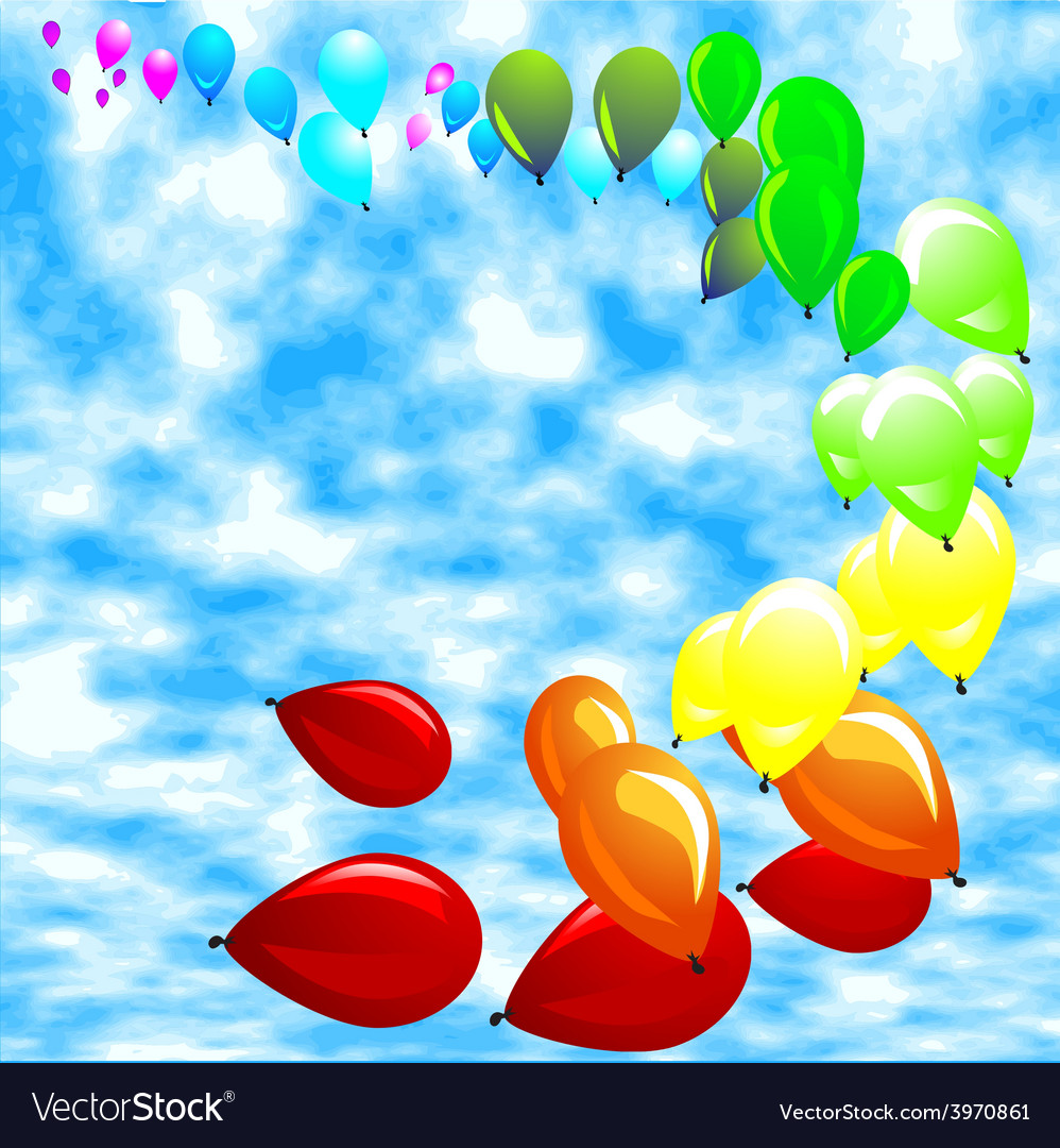 Baloon against a blue sky vector | Price: 1 Credit (USD $1)