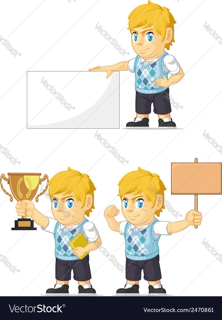 Blonde rich boy customizable mascot 4 vector | Price: 1 Credit (USD $1)