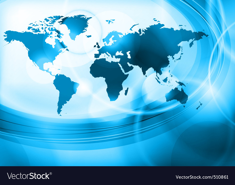 Blue world vector | Price: 1 Credit (USD $1)