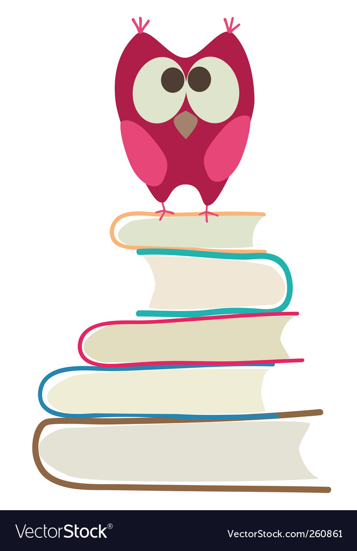 Book and owl vector