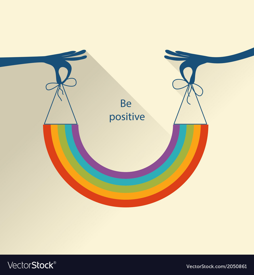 Colorful positive background vector | Price: 1 Credit (USD $1)