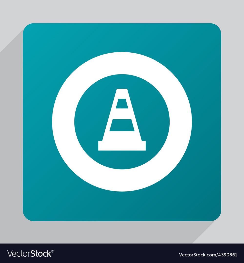 Flat construction cone icon vector   Price: 1 Credit (USD $1)