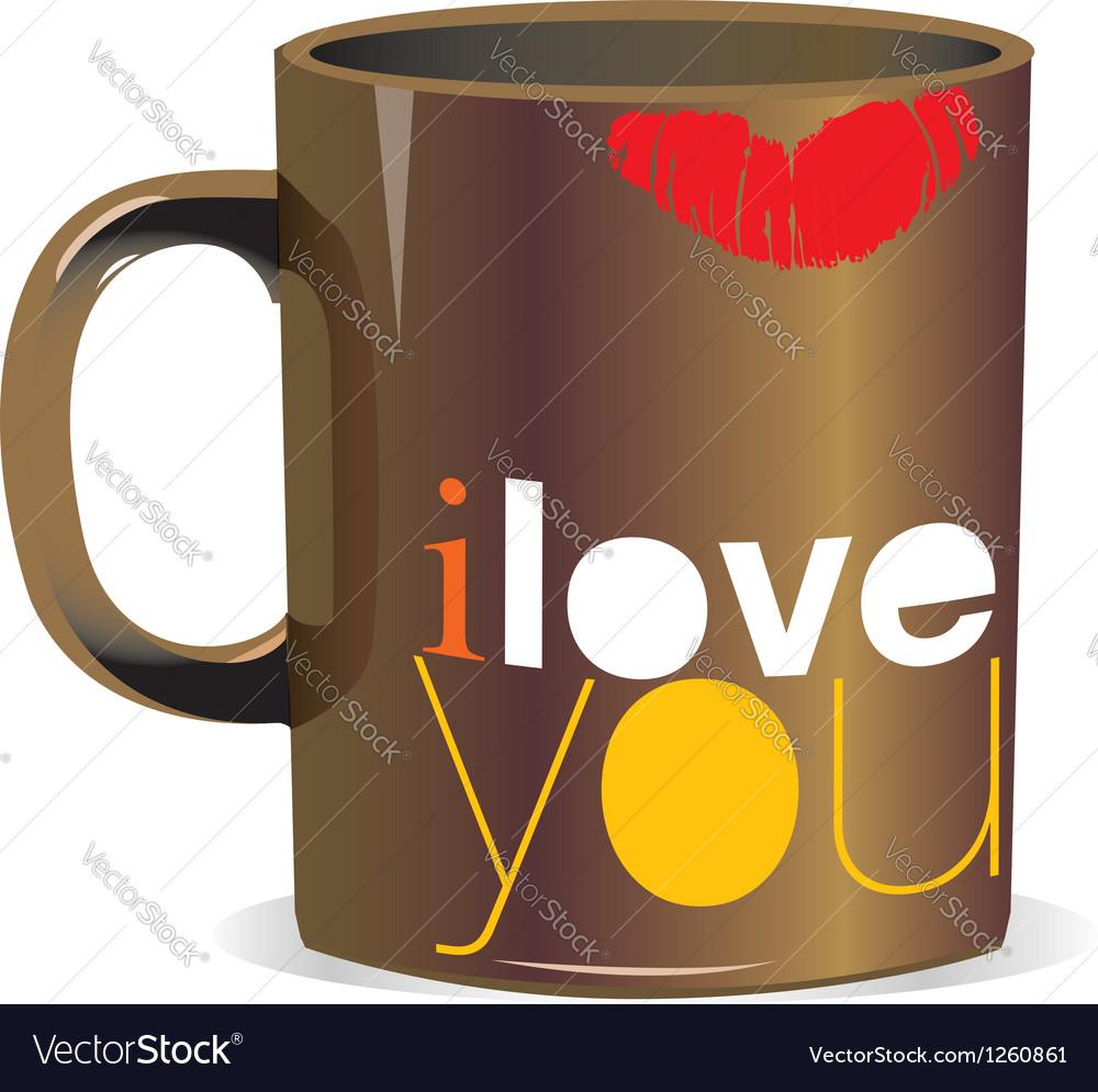 I love you mug vector | Price: 1 Credit (USD $1)