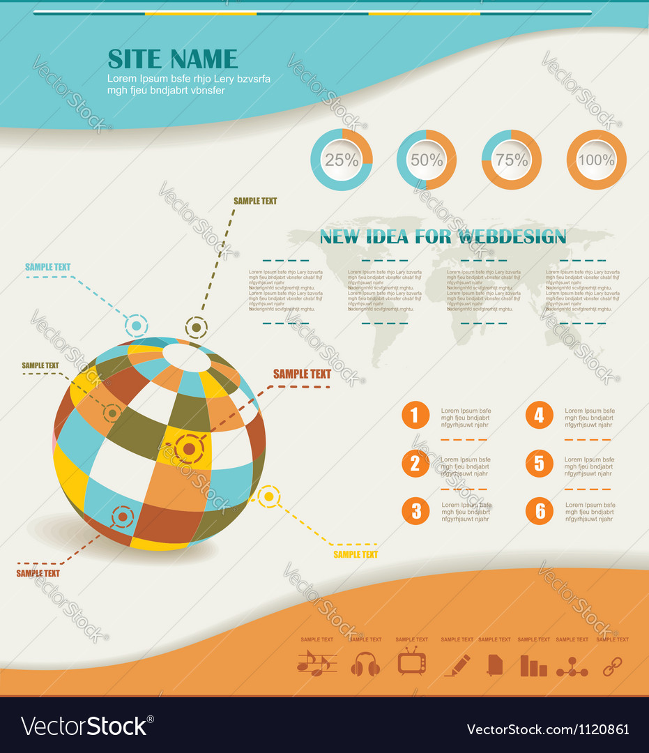 Infographics set and information graphics vector | Price: 1 Credit (USD $1)