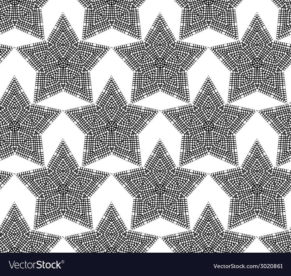 Lace stars on white background for your festive vector | Price: 1 Credit (USD $1)
