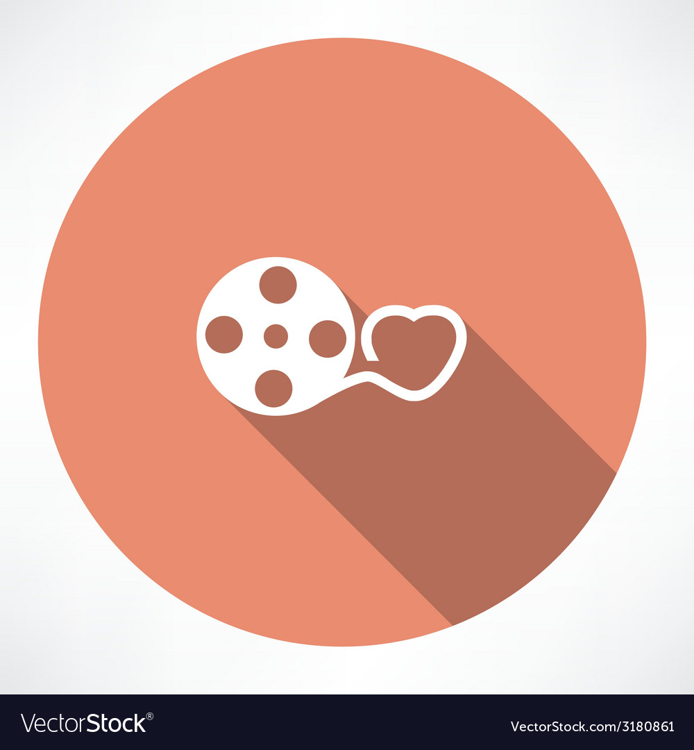 Love movie reel with hearts vector | Price: 1 Credit (USD $1)