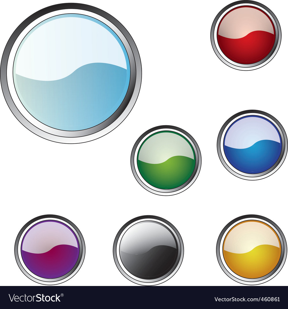 Multicoloured buttons for a web vector | Price: 1 Credit (USD $1)