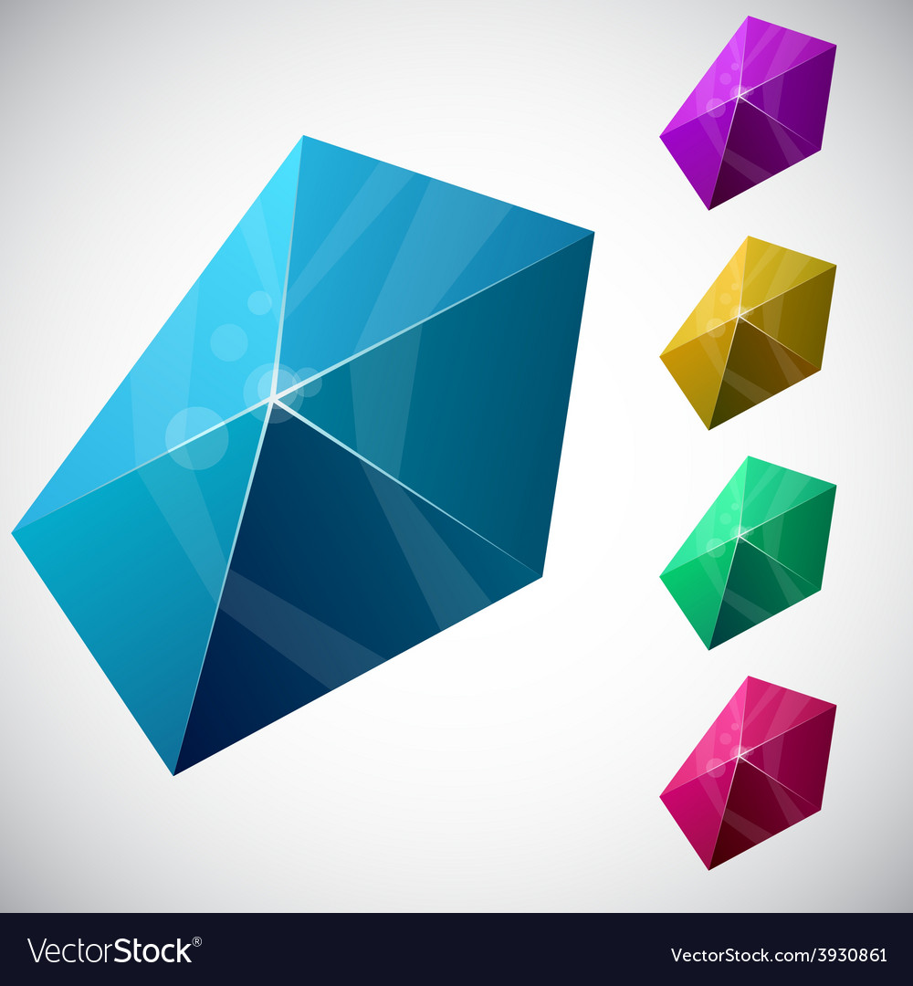Pentagonal vibrant pyramid vector | Price: 1 Credit (USD $1)