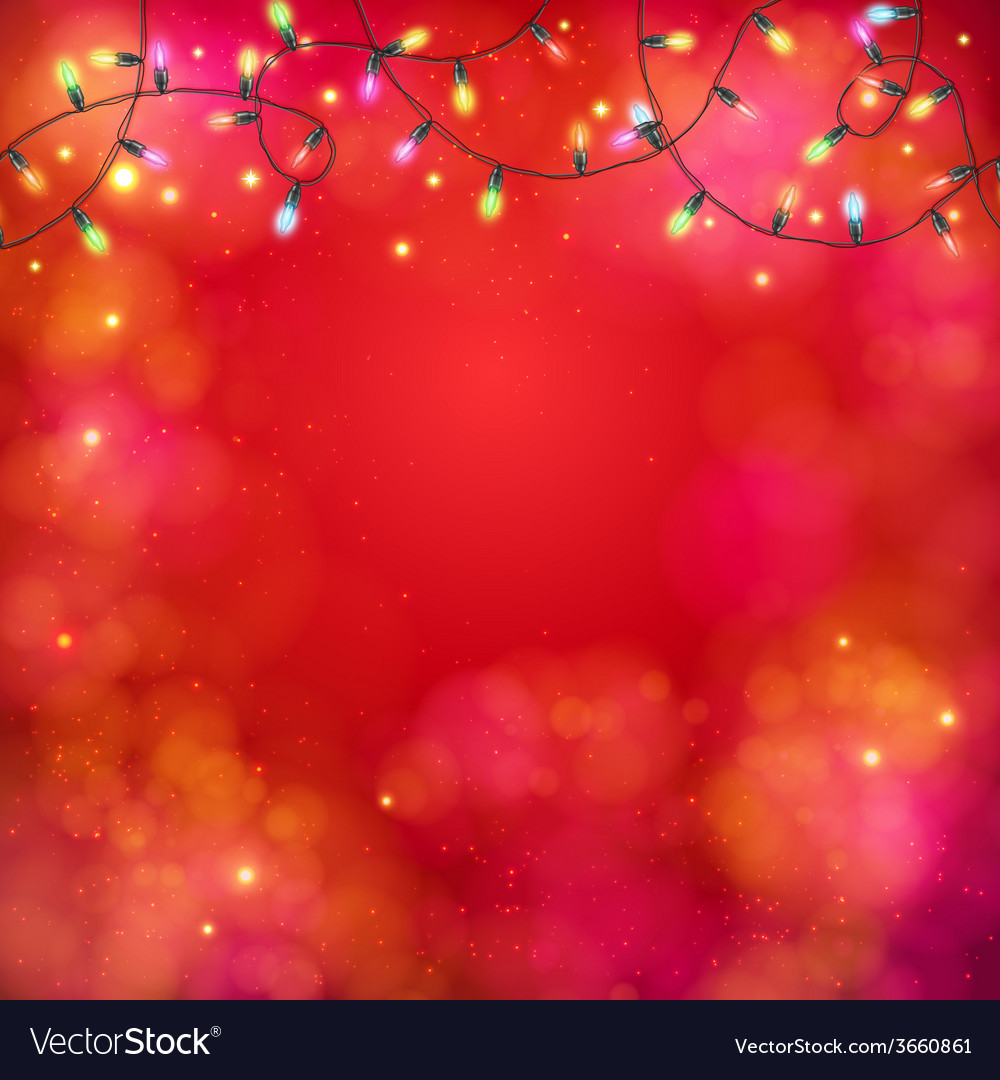 Vibrant party background with a garland of lights vector | Price: 1 Credit (USD $1)