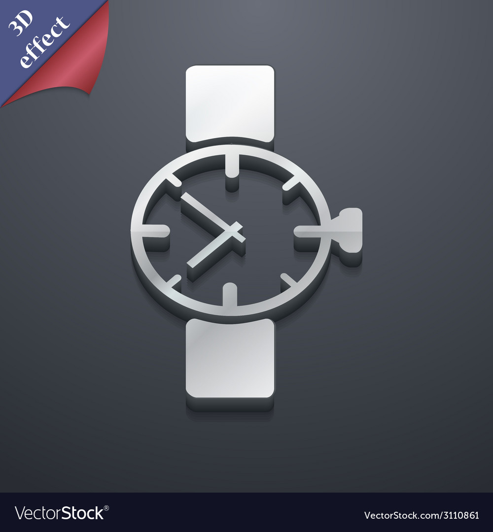 Wrist watch icon symbol 3d style trendy modern vector | Price: 1 Credit (USD $1)
