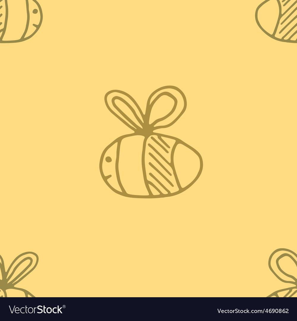 Bee pattern abstract animal art seamess background vector | Price: 1 Credit (USD $1)