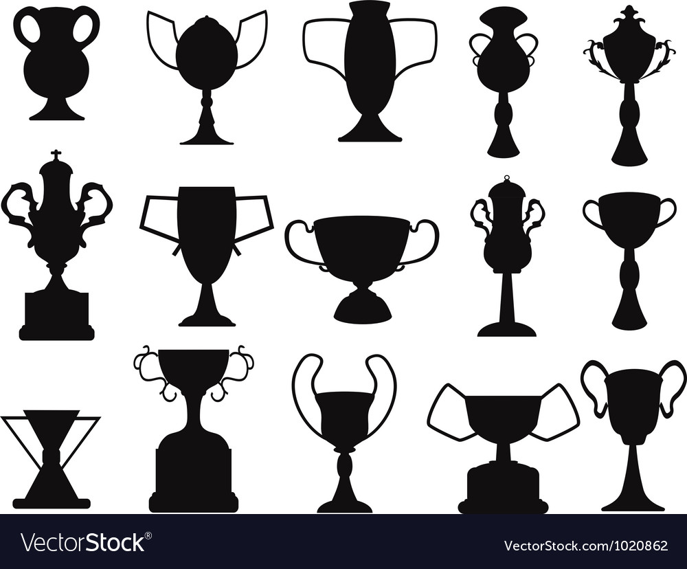 Black champion cup icon vector | Price: 1 Credit (USD $1)