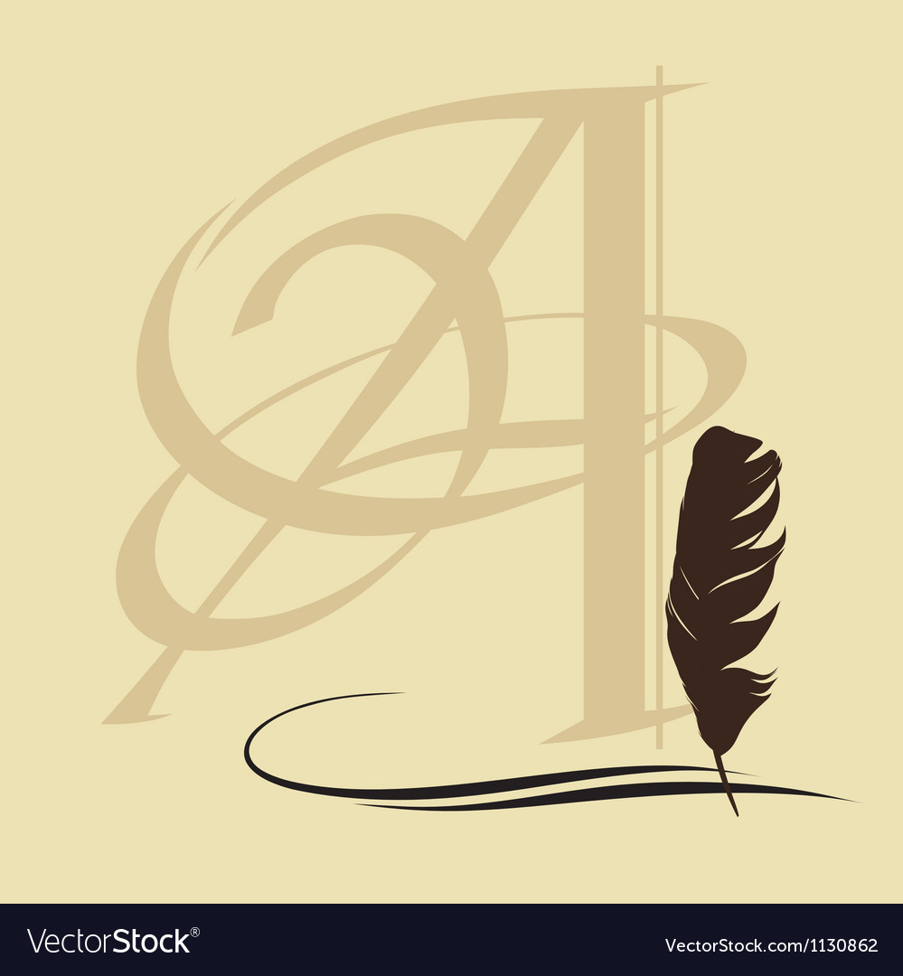 Calligraphic pen vector | Price: 1 Credit (USD $1)