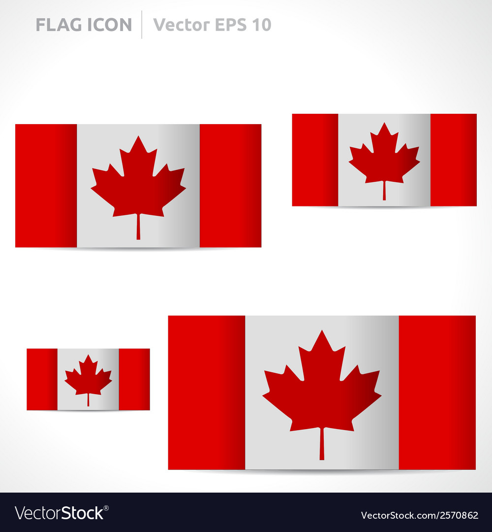 Canada flag template vector | Price: 1 Credit (USD $1)