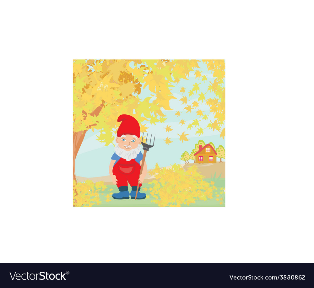 Dwarf autumn vector | Price: 1 Credit (USD $1)
