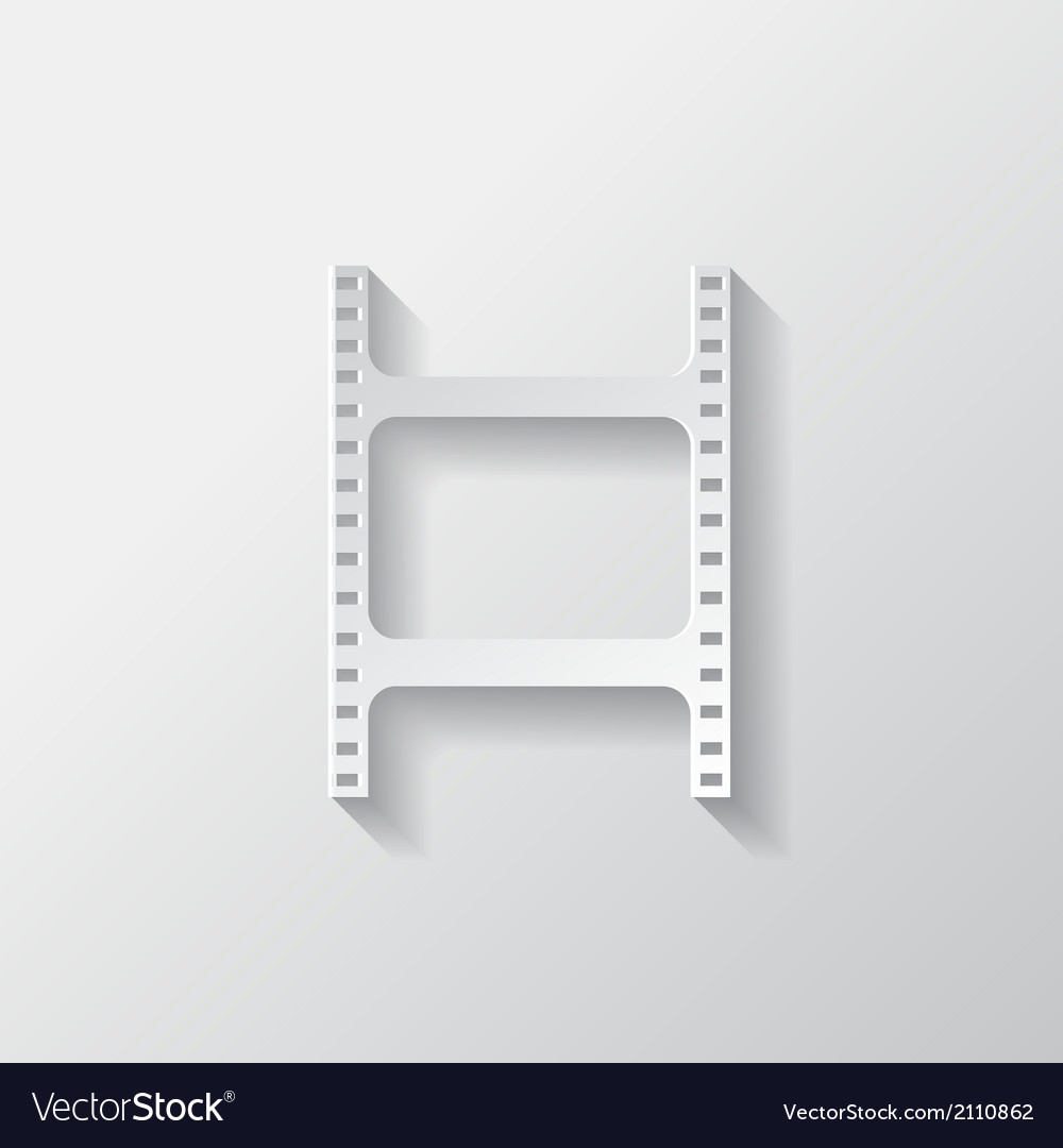 Film web icon filmstrip symbol vector | Price: 1 Credit (USD $1)