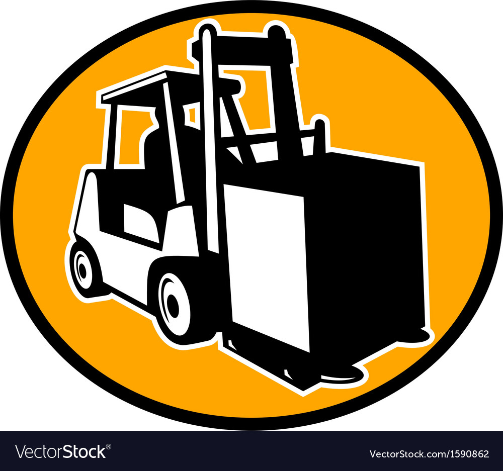 Forklift truck vector | Price: 1 Credit (USD $1)