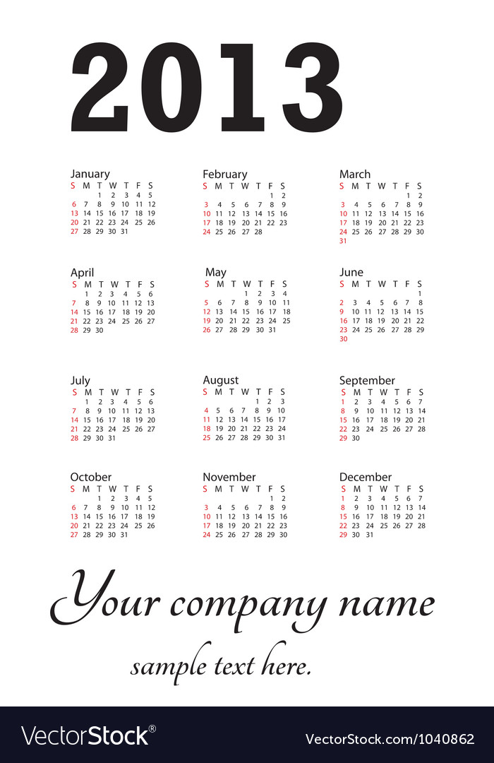 Generic calendar portrait vector | Price: 1 Credit (USD $1)